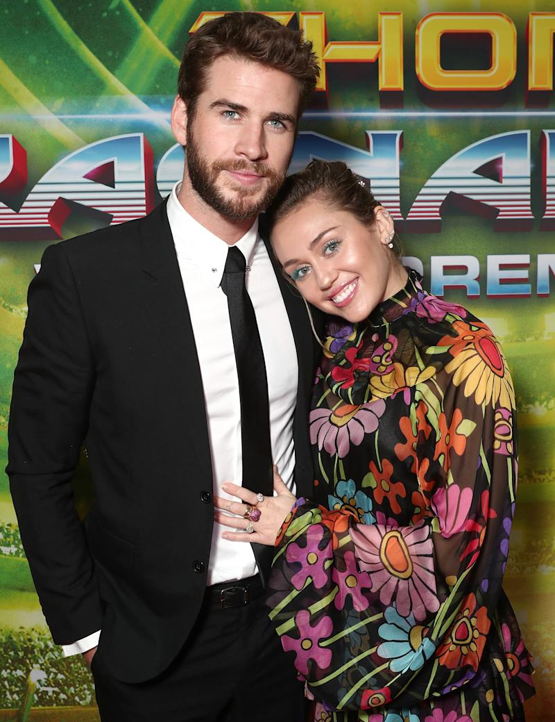 Miley Cyrus and Liam Hemsworth announced their shock split yesterday Photo: Getty Images