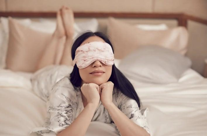 <p><span>Slip Pink Marble Pure Silk Sleep Mask</span> ($50) is an ultra-soft cover that will deliver a good night's sleep.</p>