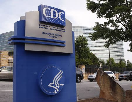 The Centers for Disease Control sign is seen at its main facility in Atlanta
