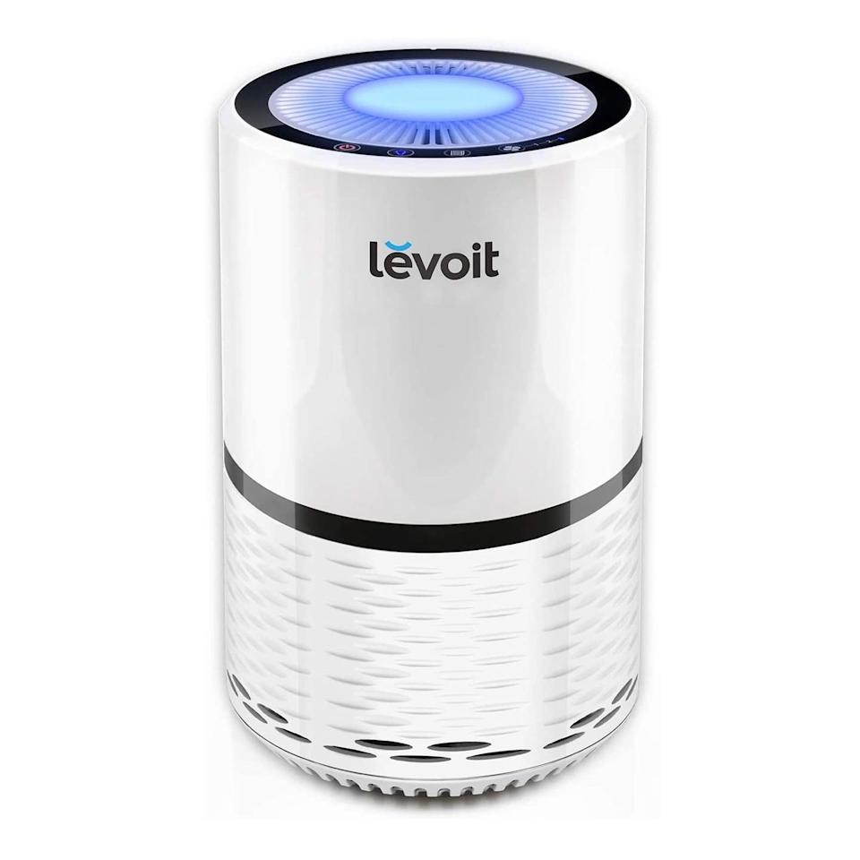 <p>If you're looking for an affordable option, this <span>Levoit H13 True HEPA Filter Air Purifier</span> ($90) is a winner. It boasts more than 13,000 positive reviews on Amazon, and we can see why. It features a HEPA filtration system, which helps to remove 99.97 percent airborne contaminants.</p>