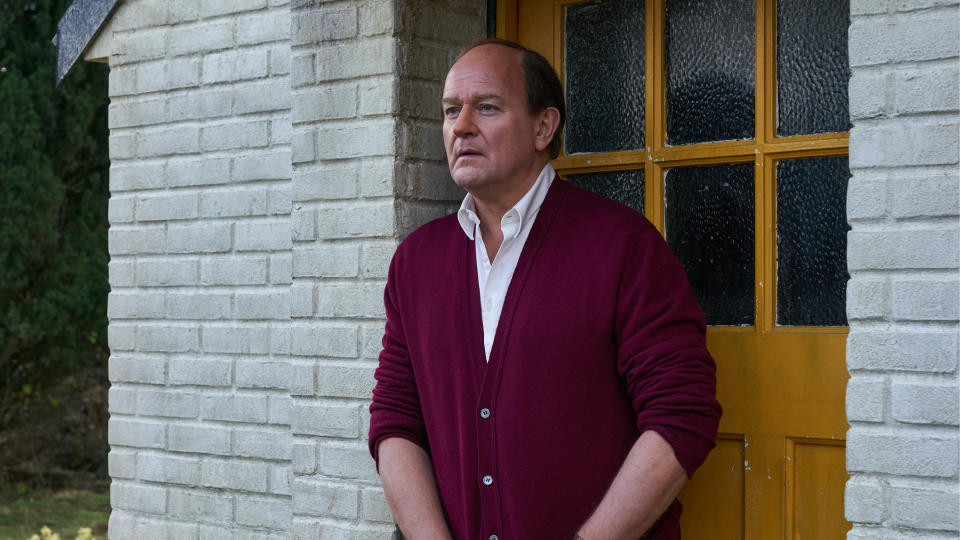 Hugh Bonneville as Roald Dahl in 'To Olivia'. (Credit: Sky Cinema)