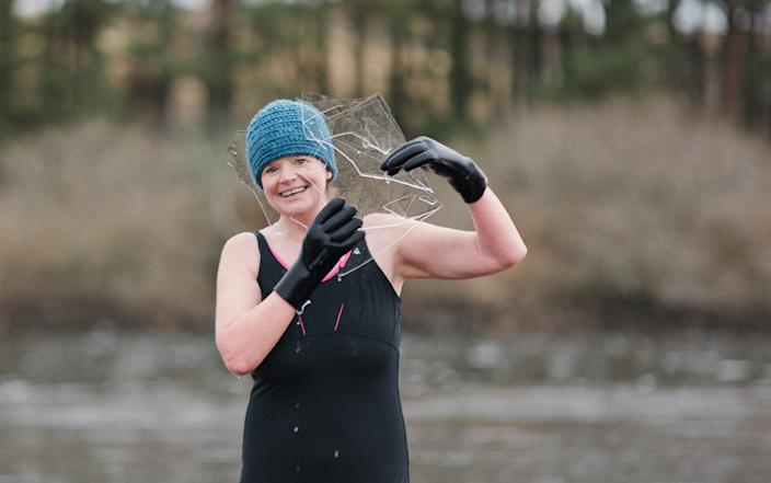 Dawn Craig is a fan of cold water swimming - Anna Deacon Photography