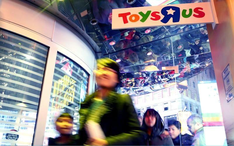 Toys R US filed for Chapter 11 bankruptcy protection last week after struggling with $5bn of debt that left it unable to invest in its stores or online - Getty Images North America