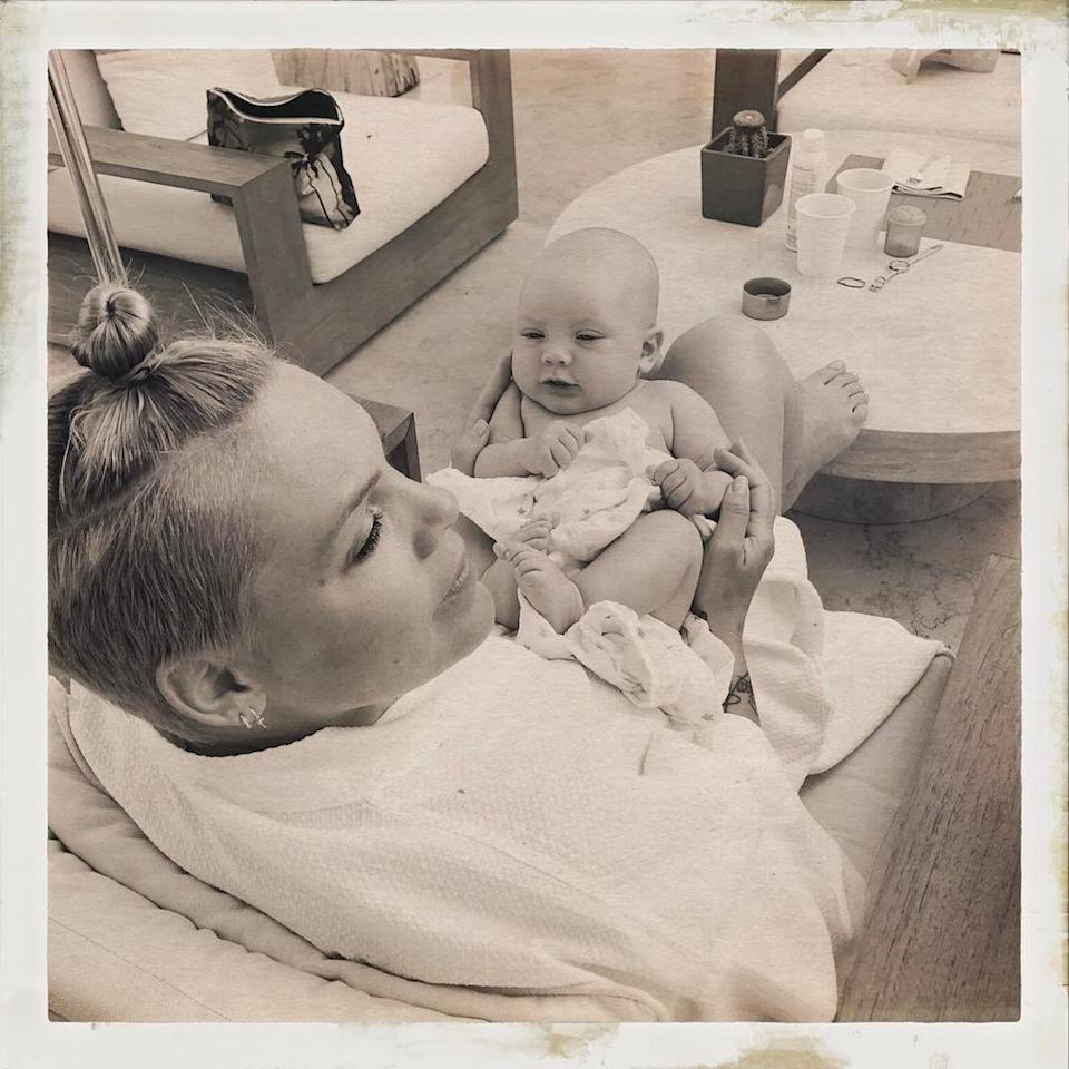 "<p>The pop star's 3-month-old son Jameson is enjoying his first spring break! Hey, even babies need a little R&R… (Photo: <a rel=""nofollow"" href=""https://www.instagram.com/p/BSl_dwkF2QG/"">Pink via Instagram</a>) </p>"