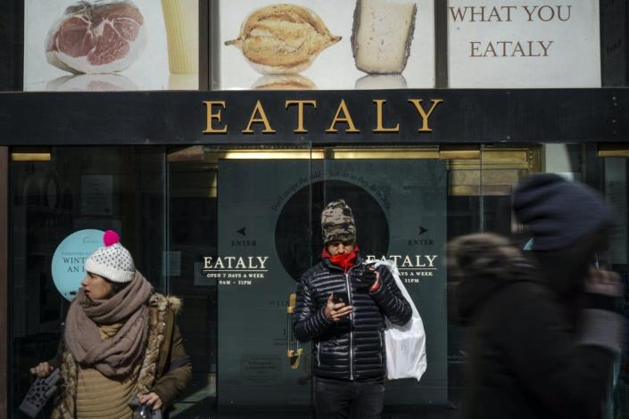 The entrance to New York City's Eataly food market.
