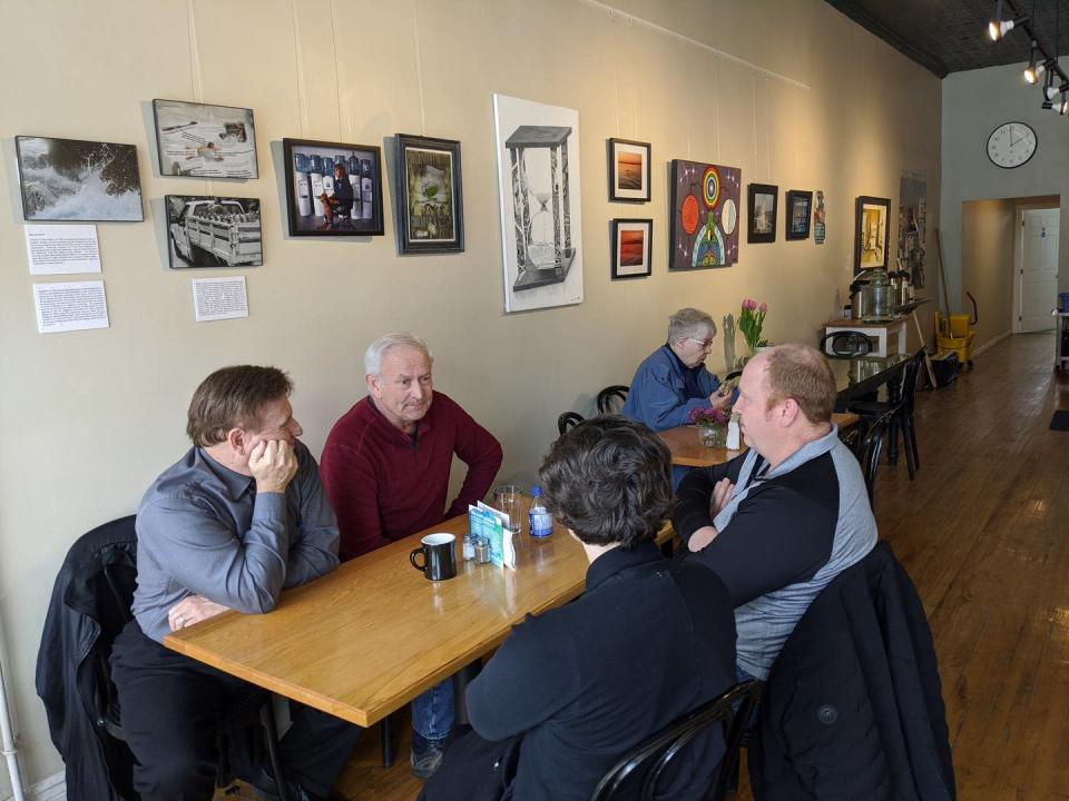 "<span class=""caption"">Haldimand County Water and Wastewater division staff were among those who visited the Grand Expressions exhibit at the Carolinian Cafe in Cayuga, Ont.</span> <span class=""attribution""><span class=""license"">Author provided</span></span>"