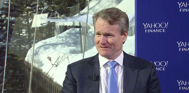 Bank of America CEO Brian Moynihan talks to Yahoo Finance in Davos, Switzerland