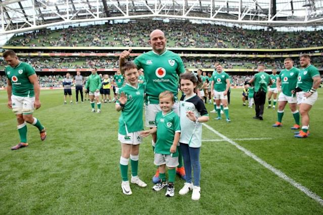 Rory Best told AFP his wife and three children attending many of his games has helped them get used to his long absences due to rugby (AFP Photo/Paul Faith)