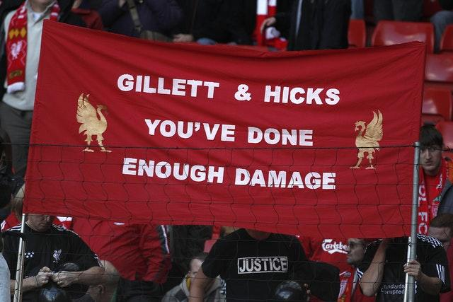 Liverpool fans made their feelings clear