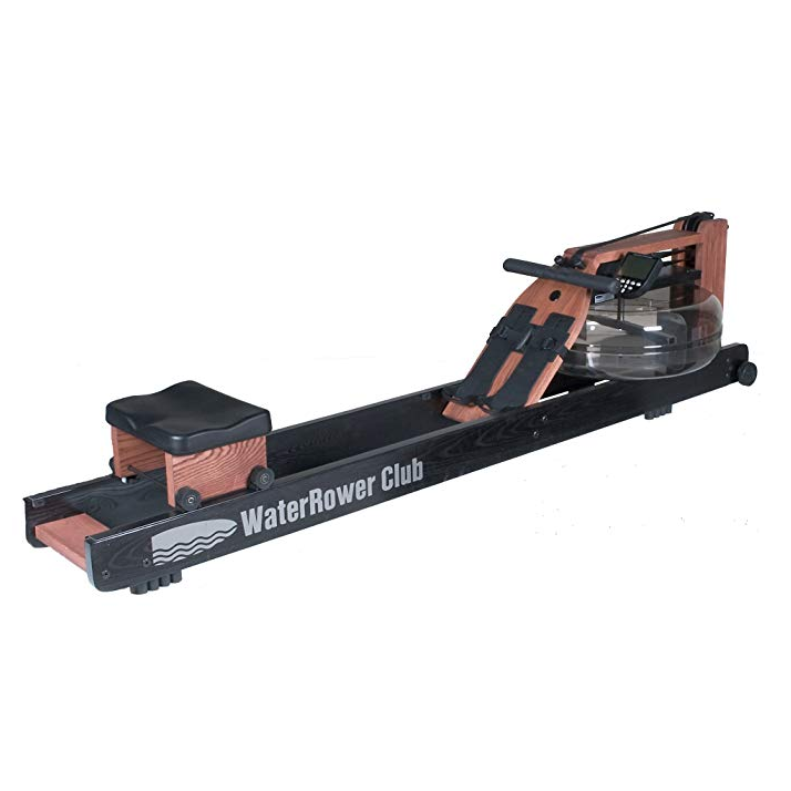 """<p><strong>water rower</strong></p><p>waterrower.com</p><p><strong>$1295.00</strong></p><p><a href=""""https://www.waterrower.com/ca/shop/club-rowing-machine.html"""" rel=""""nofollow noopener"""" target=""""_blank"""" data-ylk=""""slk:Shop Now"""" class=""""link rapid-noclick-resp"""">Shop Now</a></p><p>This indoor rower mimics the dynamic motion of rowing through real water. Customize resistance by filling the water tank with more or less water, as desired. The wood finish helps you feel more at home than you might at the gym, too. </p>"""