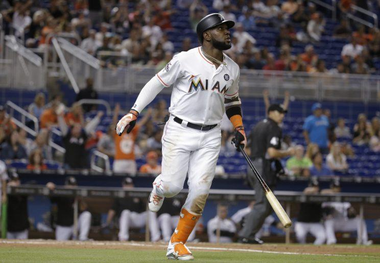 Marcell Ozuna has claimed the third NL outfield spot. (AP)
