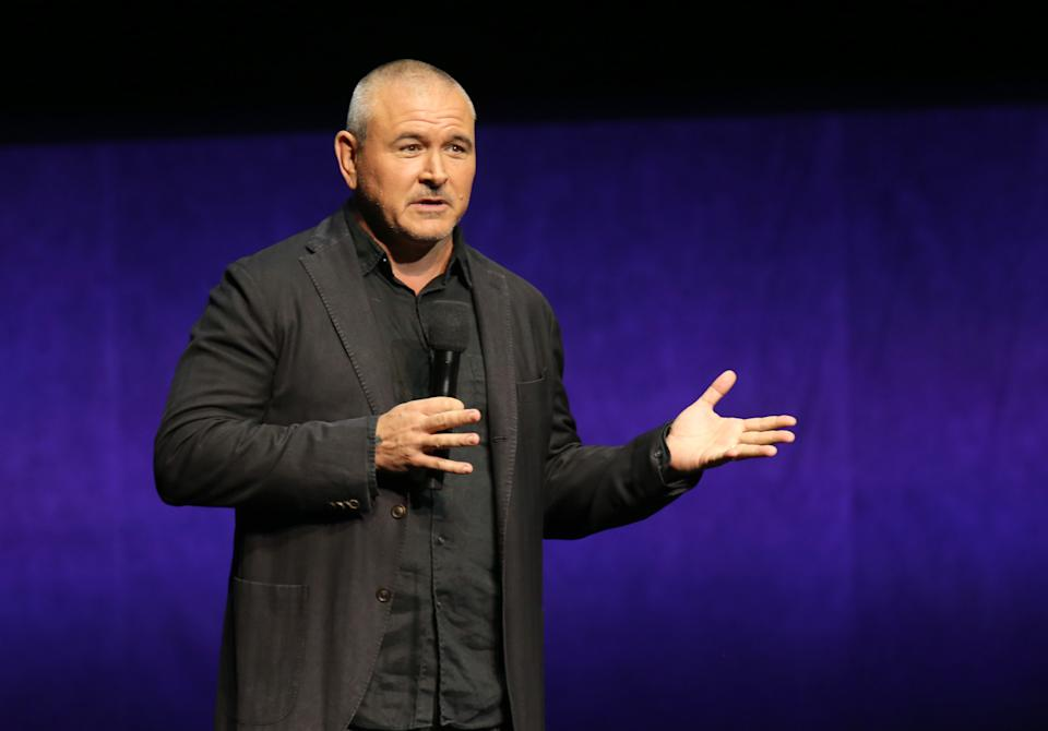 LAS VEGAS, NEVADA - APRIL 04: Director Tim Miller speaks during Paramount Pictures exclusive presentation during CinemaCon at The Colosseum at Caesars Palace on April 04, 2019 in Las Vegas, Nevada. CinemaCon is the official convention of the National Association of Theatre Owners. (Photo by Gabe Ginsberg/WireImage)
