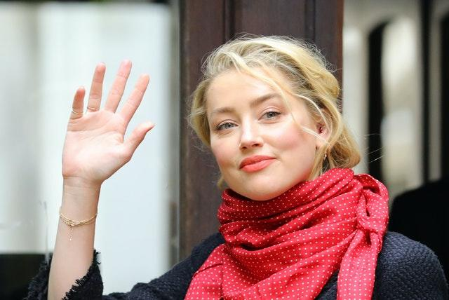 Actress Amber Heard at the High Court in London