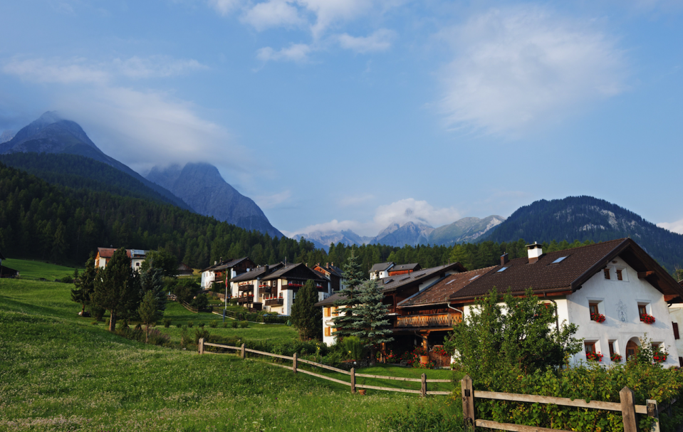 <p>In ninth place, it's Switzerland. This snap depicts the luscious green hills that the country is known for. (Picture:REX) </p>
