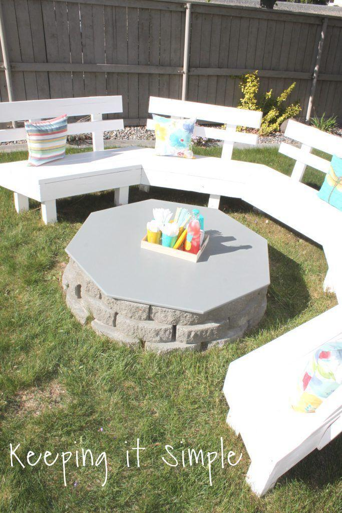 """<p>This fire pit does double duty as a handy table when not in use.</p><p><strong>Get the tutorial at <a href=""""https://www.keepingitsimplecrafts.com/how-to-build-diy-fire-pit-for-only-60/"""" rel=""""nofollow noopener"""" target=""""_blank"""" data-ylk=""""slk:Keeping it Simple"""" class=""""link rapid-noclick-resp"""">Keeping it Simple</a>.</strong></p><p><a class=""""link rapid-noclick-resp"""" href=""""https://www.amazon.com/Polymeric-Sand-Beige-Stabilizing-Pavers/dp/B076JW53ZS/?tag=syn-yahoo-20&ascsubtag=%5Bartid%7C10050.g.31966151%5Bsrc%7Cyahoo-us"""" rel=""""nofollow noopener"""" target=""""_blank"""" data-ylk=""""slk:SHOP PAVER SAND"""">SHOP PAVER SAND</a></p>"""
