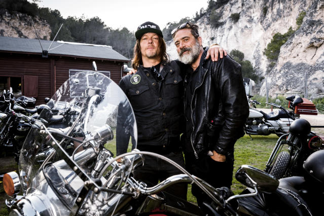 Reedus and Jeffrey Dean Morgan (Photo: Aidan Monaghan/AMC)