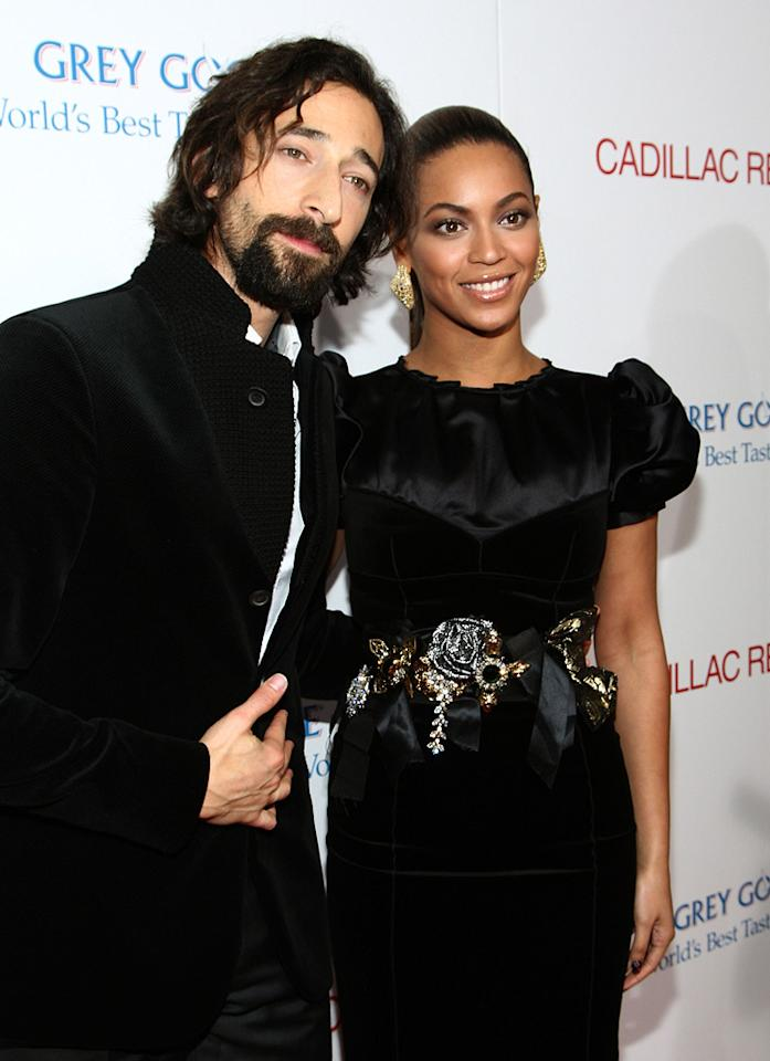 "<a href=""http://movies.yahoo.com/movie/contributor/1800018941"">Adrien Brody</a> and <a href=""http://movies.yahoo.com/movie/contributor/1804705859"">Beyonce Knowles</a> at the Los Angeles premiere of <a href=""http://movies.yahoo.com/movie/1810003875/info"">Cadillac Records</a> - 11/24/2008"