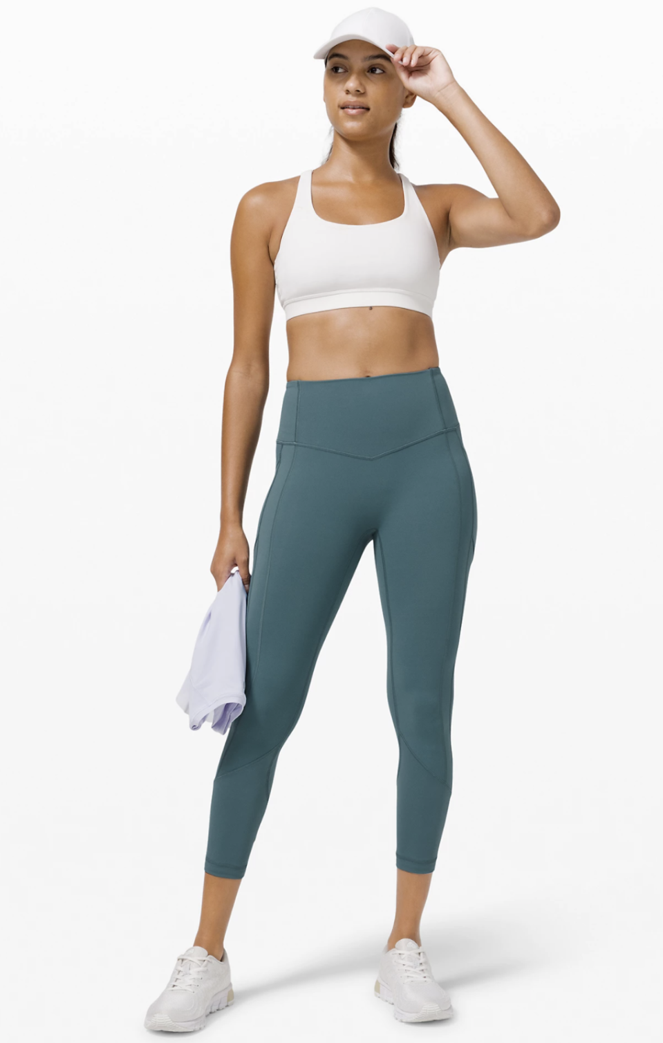 """The All The Right Places Crop II from Lululemon - $128. As seen on Tayshia Adams from """"The Bachelorette."""""""