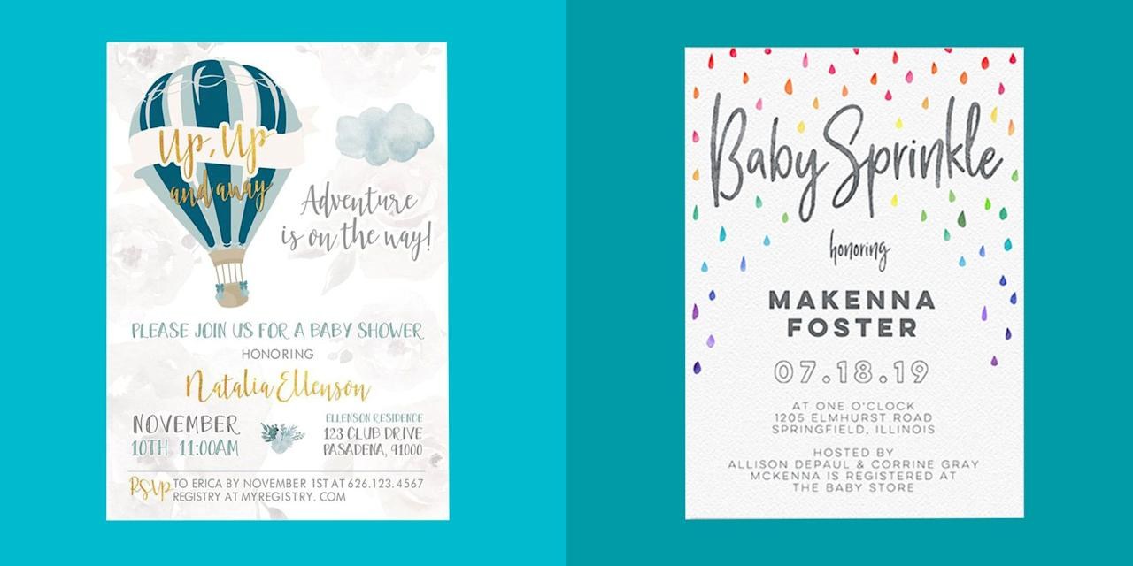 "<p>If you're <a rel=""nofollow"" href=""https://www.womansday.com/life/g25240748/best-baby-shower-ideas/"">hosting a party for a baby on the way</a>, start the celebration off on the right foot with some stylish invitations. The mom-to-be's closest friends and family members will know your gathering is <a rel=""nofollow"" href=""https://www.womansday.com/relationships/family-friends/g25352544/baby-shower-games/"">not one to miss</a> after receiving these cute cards in the mail.<br></p>"
