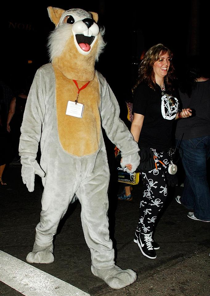 "In an effort to enjoy the festivities without being bombarded by crazed fans, Johnny Depp donned a plush squirrel costume. Even while disguised, Depp looked super cute! Zodiac/Fapian/<a href=""http://www.splashnewsonline.com"" target=""new"">Splash News</a> - July 26, 2009"