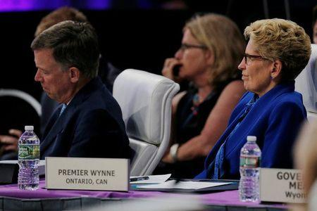 Premier of Ontario Kathleen Wynne attends the National Governors Association summer meeting in Providence, Rhode Island, U.S., July 14, 2017. REUTERS/Brian Snyder