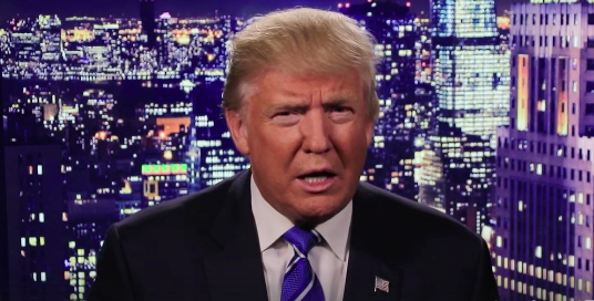 Screenshot from Donald Trump's video statement following the release of an audio recording on which he can be heard boasting that he has sexually assaulted women. (Photo: Facebook screenshot)