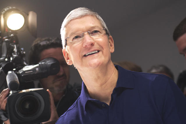 <p>No. 1 (tie) Apple CEO Tim Cook<br>CEO approval rating: 99 per cent<br>(CNBC) </p>