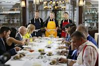 """<p>All that food has to go somewhere. The producers get to chow down on the <a href=""""https://www.seattlemet.com/articles/2012/7/5/a-seattle-chef-pulls-back-the-curtain-on-top-chef-july-2012"""" rel=""""nofollow noopener"""" target=""""_blank"""" data-ylk=""""slk:leftover dishes and groceries."""" class=""""link rapid-noclick-resp"""">leftover dishes and groceries.</a> </p>"""