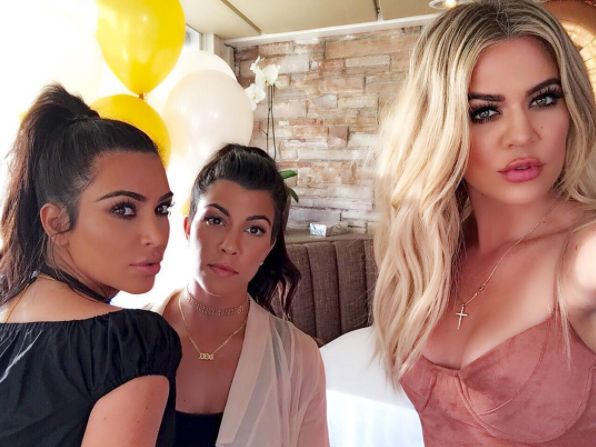 Khloe isn't usually one to shy away from the camera. Source: Instagram