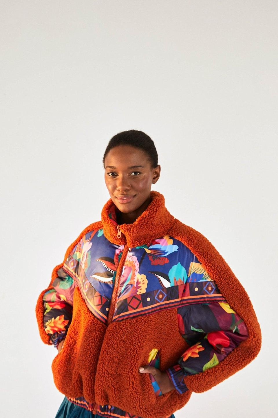 "<p>""I was immediately drawn to the <span>FARM Rio Lucy Floral Puffer</span> ($395). First of all, it's reversible, so you're getting two different looks in one. But I'm also in the mood to brighten up the atmosphere no matter where I go - even if it's just out on a walk.""</p>"
