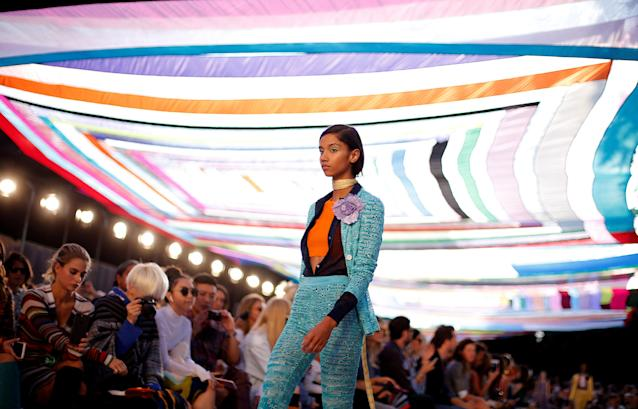 FILE PHOTO: A model presents a creation from the Missoni Spring/Summer 2018 show at the Milan Fashion Week in Milan, Italy September 23, 2017. REUTERS/Alessandro Garofalo/File Photo