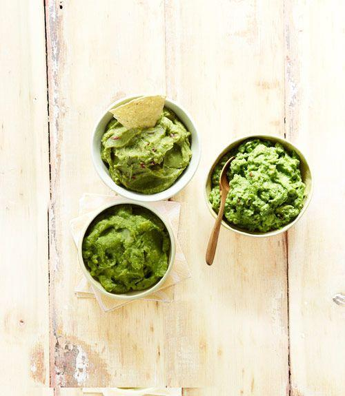 """<p>Our versatile guacamole recipe pairs equally well with tortilla chips, a crudités platter or homemade burgers. You'll want to serve a bowl of this creamy, spicy dip with just about every meal.</p><p><em><a href=""""https://www.goodhousekeeping.com/food-recipes/party-ideas/a19473/guacamole-recipe-twists/"""" rel=""""nofollow noopener"""" target=""""_blank"""" data-ylk=""""slk:Get the recipe for Guacamole »"""" class=""""link rapid-noclick-resp"""">Get the recipe for Guacamole »</a></em></p>"""