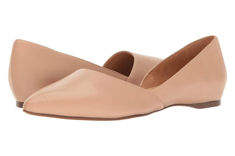 nude flats, pointed, dorsay, naturalizer