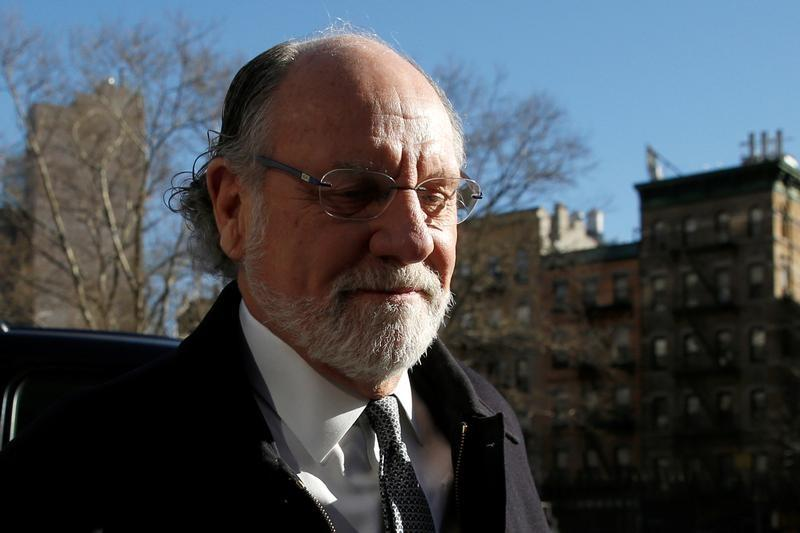 Jon Corzine, former CEO of MF Global Holdings, arrives at the Manhattan federal court house in New York