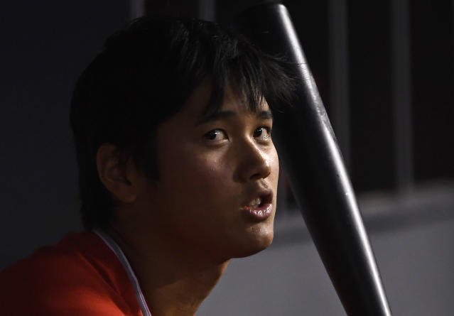 Shohei Ohtani is hitting just .125 this spring for the Los Angeles Angels. (AP)