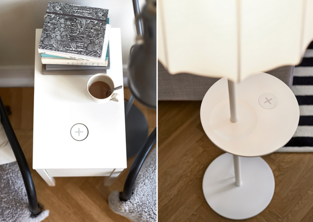 Ikea Qi charging furniture