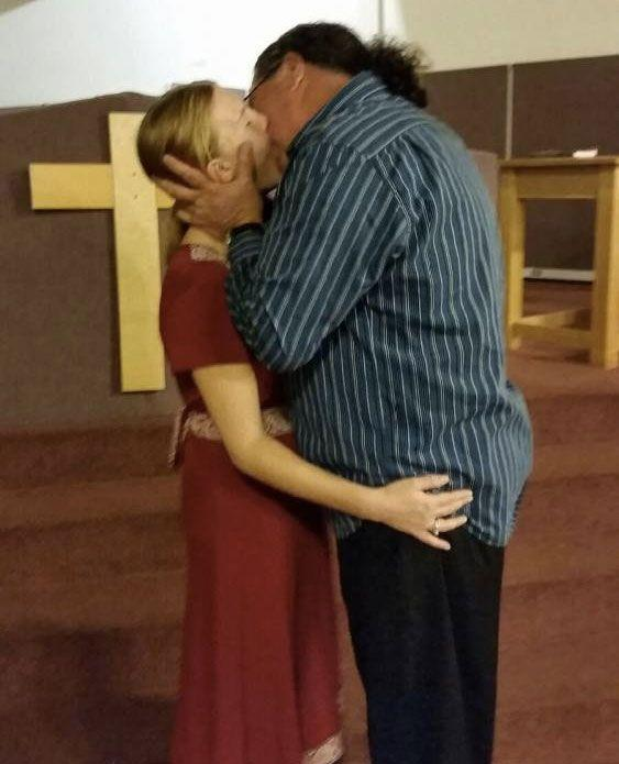 Thom Miller and Reba Kerfootruba just recently got married in Thom's church. Photo: Barcroft TV