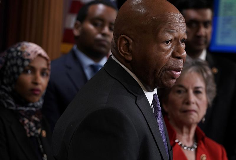 Democratic Representative Elijah Cummings will lead the House Oversight Committee's investigations of President Donald Trump, starting with the testimony of former Trump lawyer Michael Cohen on February 7 (AFP Photo/ALEX WONG)