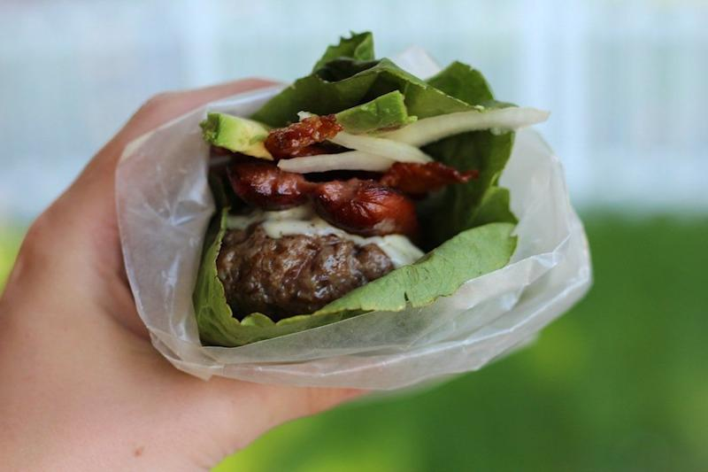 """<strong>Get the<a href=""""http://paleomg.com/4th-of-july-triple-protein-burgers/"""" target=""""_blank"""">Triple Protein Burgers</a> recipe from PaleOMG</strong>"""