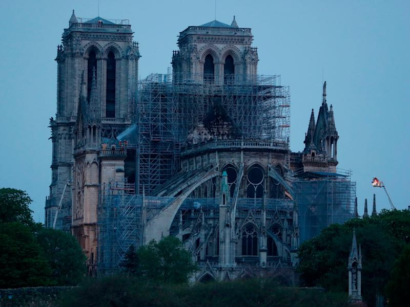 Notre Dame fire: Macron announces fundraising campaign saying cathedral 'will be rebuilt' - here's how to donate