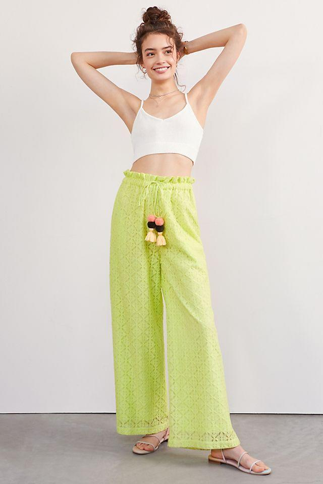 """<br><br><strong>Ollari</strong> Lacy Wide-Leg Pants, $, available at <a href=""""https://go.skimresources.com/?id=30283X879131&url=https%3A%2F%2Fwww.anthropologie.com%2Fshop%2Flacy-wide-leg-pants"""" rel=""""nofollow noopener"""" target=""""_blank"""" data-ylk=""""slk:Anthropologie"""" class=""""link rapid-noclick-resp"""">Anthropologie</a>"""