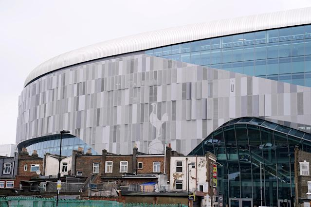 Tottenham Hotspur Stadium was designed with an NFL configuration in mind, as the league planned to stage more international games or potentially move a franchise to London. (John Walton/PA Wire)