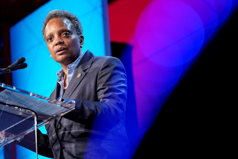 Mayor of Chicago Lori Lightfoot speaks at the U.S. Conference of Mayors 88th Winter Meeting in Washington, U.S., January 23, 2020. (Joshua Roberts/Reuters)