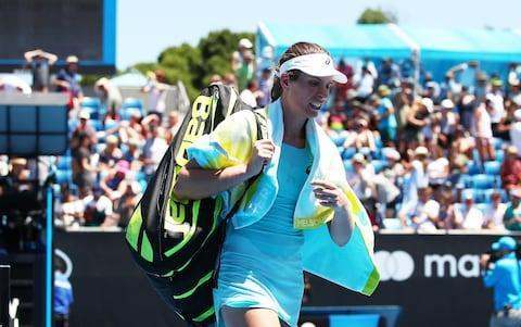 "Here is what you missed overnight on day four at the Australian Open... Konta knocked out by 'lucky loser' British interest in the women's draw was ended on the fourth day of the tournament as Johanna Konta suffered a shock defeat to 'lucky loser' Bernarda Pera. Pera lost in the final round of qualifying only to be handed a place in the main draw when Margarita Gasparyan withdrew. The Croatian-born American, ranked 123, has more than taken advantage of her spot and her first ever grand slam experience. The 9th-seeded Konta had looked in good form in her first-round win over Madison Brengle but struggled to find her game against left-handed Pera and lost in straight sets 6-4, 7-5. Konta suffered a shock loss to Bernarda Pera Credit: Getty Images Konta wasn't too disconsolate following her earlier than expected exit. ""It's a bit frustrating, but I'm still taking good stuff from this. I don't feel, by any means, it's a massive catastrophe. I play every event to be there until the end, so I definitely don't want to be going home this early,"" she said. ""But I think in terms of building myself back up again and then playing the way I want to play, I think I keep moving forward."" Net losses 