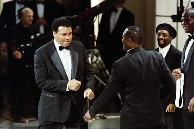Muhammad Ali and Joe Frazier fought for the third time in Manila (AFP Photo/ROBERT GIROUX)