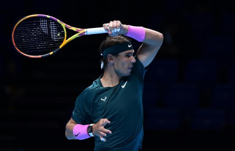 Rafael Nadal beat Andrey Rublev in straight sets in his opening match at the ATP Finals in London