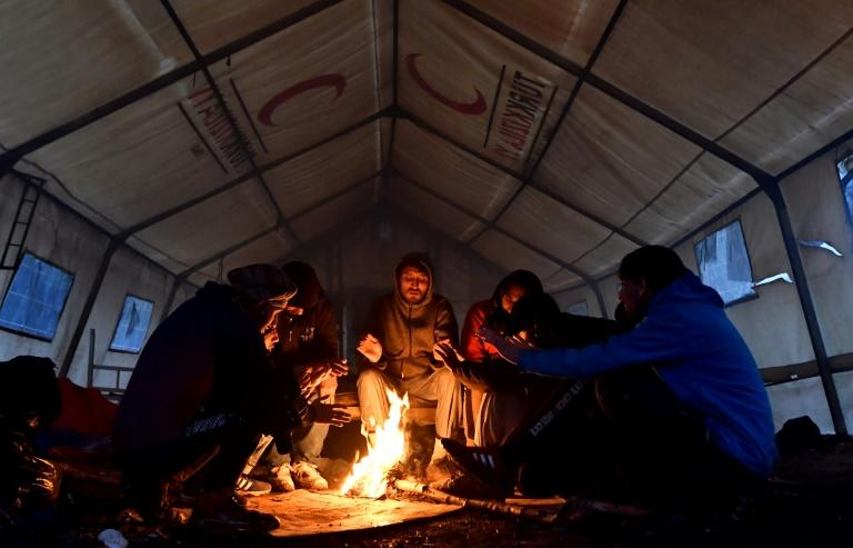 The tents in the Vucjak migrant camp have no heating or electricity