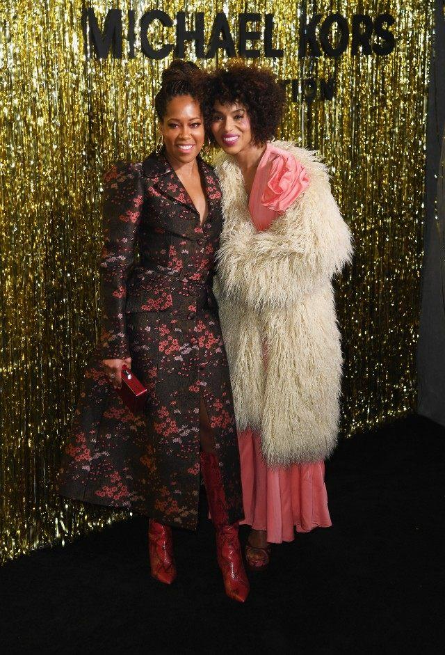 Regina King and Kerry Washington at Michael Kors show