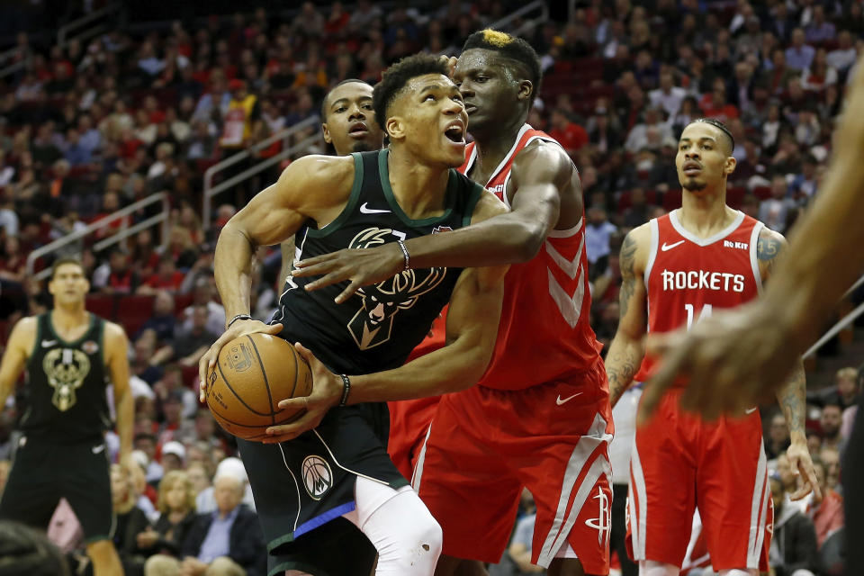 Giannis Antetokounmpo got the best of James Harden in more ways than one Wednesday. (Getty)