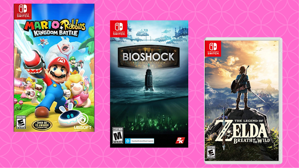 Get your game on — for a steal. Save up to 70 percent on Nintendo Switch games. (Photo: Amazon)